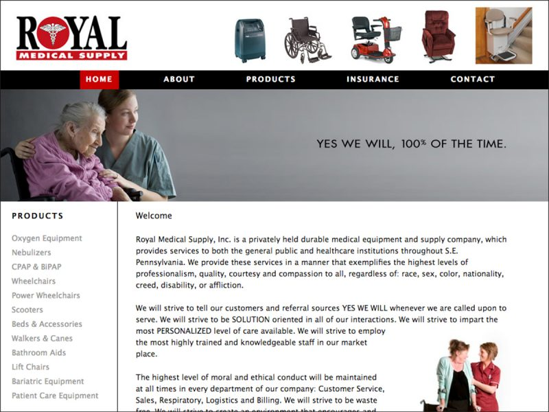 royal medical web design