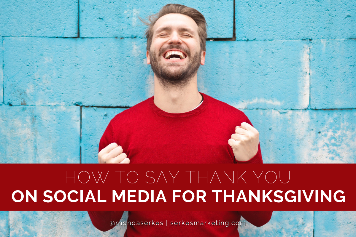 how to say thank you on social media for thanksgiving