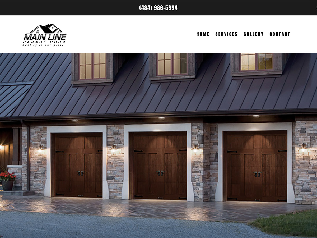 Main Line Garage Door Website